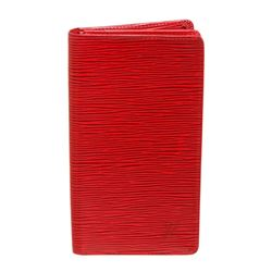 Louis Vuitton Red Epi Leather Checkbook Wallet