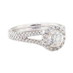 1.33 ctw Diamond Ring - 18KT White Gold
