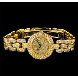 Renato Ferraris 18KT Yellow Gold 4.00 ctw Diamond Ladies Watch