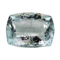 7.13 ct.Natural Cushion Cut Aquamarine