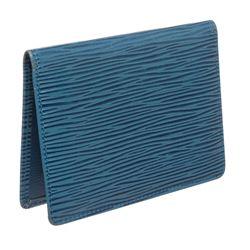 Louis Vuitton Blue Epi Leather ID Holder Wallet