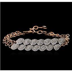1.84 ctw Diamond Bracelet - 14KT Two-Tone Gold
