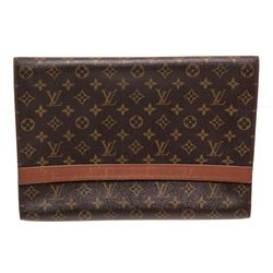 Louis Vuitton Monogram Canvas Leather Vintage Document Holder