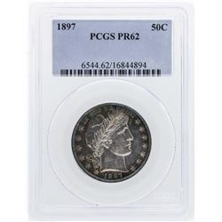 1897 Barber Half Dollar Proof Coin PCGS PR62