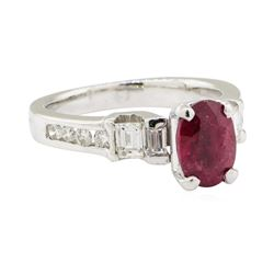 2.65 ctw Ruby and Diamond Ring - 14KT White Gold