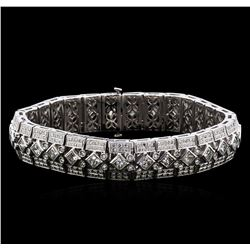 10.00 ctw Diamond Bracelet - 18KT White Gold