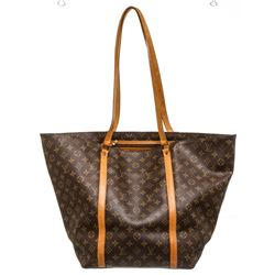 Louis Vuitton Monogram Canvas Leather Sac Shopping GM Tote Bag