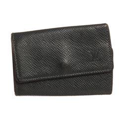 Louis Vuitton Green Taiga Leather 6 Key Holder