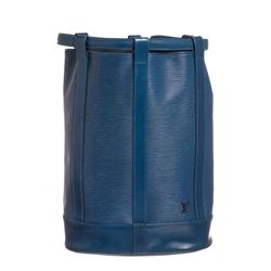 Louis Vuitton Blue Epi Leather Randonne GM Backpack Bag