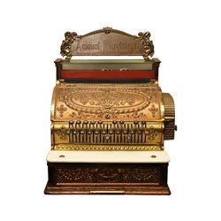 Vintage Brass National Cash Register