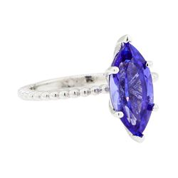 2.53 ctw Tanzanite Ring - 14KT White Gold