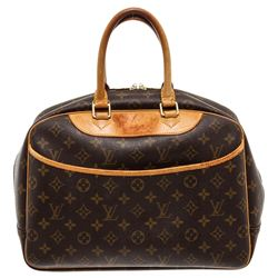 Louis Vuitton Monogram Canvas Leather Deauville Doctor Bag