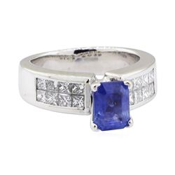 2.72 ctw Sapphire and Diamond Ring - Platinum