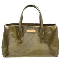 Louis Vuitton Green Monogram Vernis Leather Wilshire PM Bag