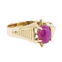 0.50 ctw Lindy Star Ruby Ring - 10KT Yellow Gold