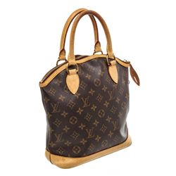Louis Vuitton Monogram Canvas Leather Lockit Vertical PM Bag
