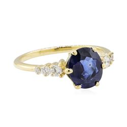 2.03 ctw Sapphire and Diamond Ring - 14KT Yellow Gold