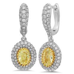 18k Gold 2.57CTW Diamond Earrings, (VS1-VS1/VS1-SI1/G-H)