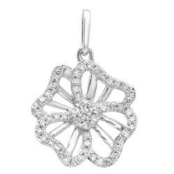14k Gold 0.19CTW Diamond Pendant, (SI3-I1/H-I)