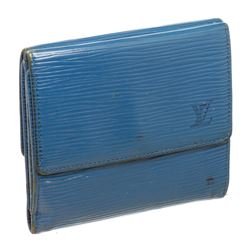 Louis Vuitton Blue Epi Leather Elise Wallet