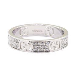 Gucci 0.30 ctw Diamond Ring - 18KT White Gold