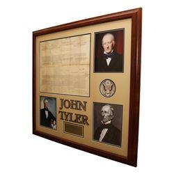 President John Tyler Autographed Document