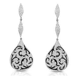 18k White Gold 2.81CTW Diamond Earrings, (VS2 /G)