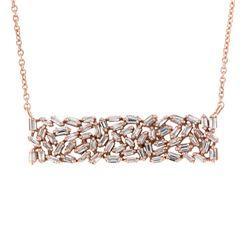 14K Yellow Gold 0.61CTW Diamond Necklace, (I1/G-H)