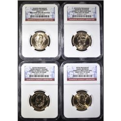 2008-P PRESIDENTIAL DOLLARS  NGC BU 1st DAY ISSUE