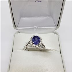 14K WHITE GOLD TANZANITE RING SIZE 6