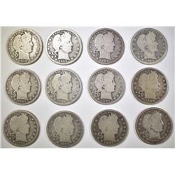 LOT OF 12 BARBER QUARTERS