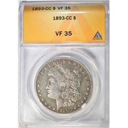 1893-CC MORGAN DOLLAR  ANACS VF-35