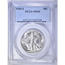 1944-S WALKING LIBERTY HALF DOLLAR   PCGS MS-64