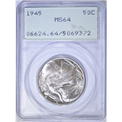 1945  WALKING LIBERTY HALF DOLLAR  PCGS MS-64