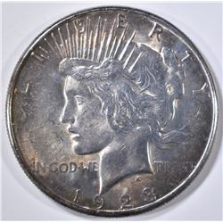 1923-S PEACE DOLLAR  CH/GEM BU  COLOR!