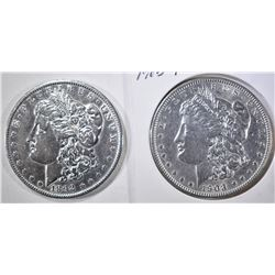 1892 XF POLISHED & 1903 BU MORGAN DOLLARS