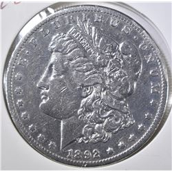 1892-CC MORGAN DOLLAR   NICE XF  OBV SCRATCHES