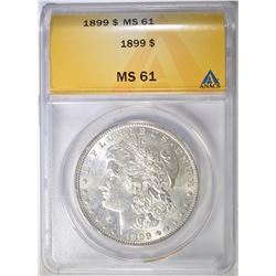 1899 MORGAN DOLLAR  ANACS MS-61