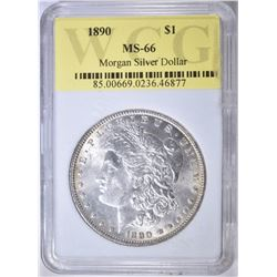 1890 MORGAN DOLLAR  WCG  SUPERB GEM