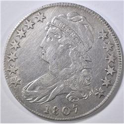1807 CAP BUST HALF DOLLAR  50/20 VARIETY  VF/XF