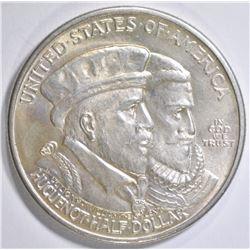 1924 HUGUENOT COMMEM HALF DOLLAR  GEM BU