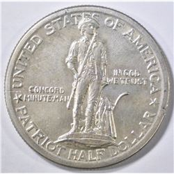 1925 LEXINGTON-CONCORD COMMEM HALF DOLLAR CH/GEM