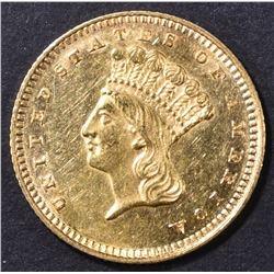 1862 $1 GOLD LIBERTY  BU