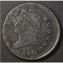 1810 LARGE CENT   XF  OFF CENTER STRIKE