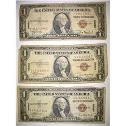3-1935 $1 HAWAII SILVER CERTIFICATES LOW GRADE
