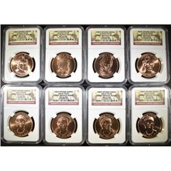 8-NGC GRADED FIRST SPOUSE COINS AS FOLLOWS: