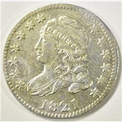 1821 BUST DIME   AU