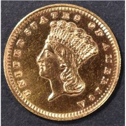 1870-S $1 GOLD INDIAN PRINCESS CH BU OLD CLEANING