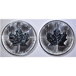 2 2008 $5 CANADA PROOF 1OZ SILVER COINS