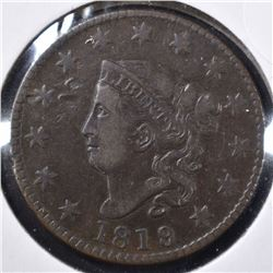 1819 LARGE CENT, VF/XF MARKS ON OBVERSE